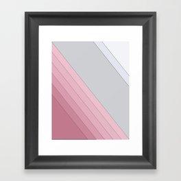 Gray , white , mixed Framed Art Print