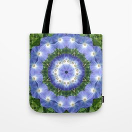 Heavenly Blue Morning Glory mandala 1058 Tote Bag
