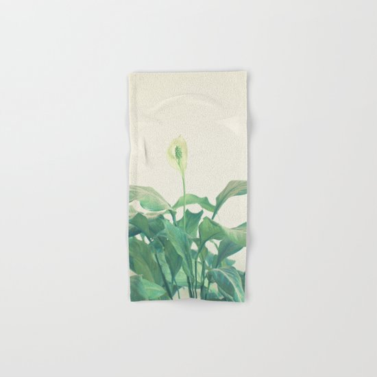 Peace Lily Hand & Bath Towel