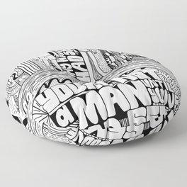 Not A Man Floor Pillow