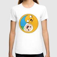 finn and jake T-shirts featuring Finn & Jake Yin Yang by bitobots