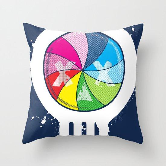 Pinwheel of Death Throw Pillow