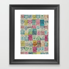 Random Bus Tickets Framed Art Print
