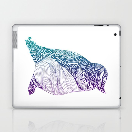 Duotone Penguin Laptop & iPad Skin