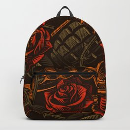 War Roses Tattoo Style Backpack