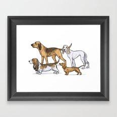 Nosy Scenthounds Framed Art Print