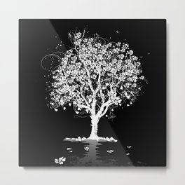Tree with flowers in spring Metal Print