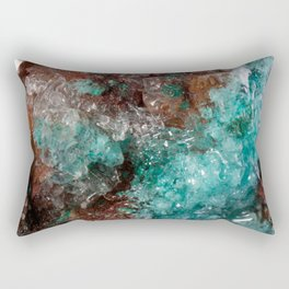 Dark Rust & Teal Quartz Rectangular Pillow