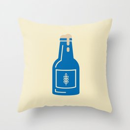 Vintage Beer II Throw Pillow