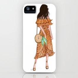 Havana Girl - Brunette iPhone Case