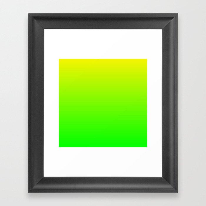 Neon Yellow/Green Ombre Gerahmter Kunstdruck