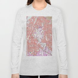 Vintage Map of Whittier California (1965) Long Sleeve T-shirt