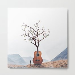 Guitar Tree Metal Print