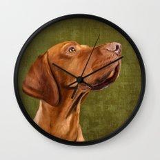 Magyar Vizsla portrait Wall Clock