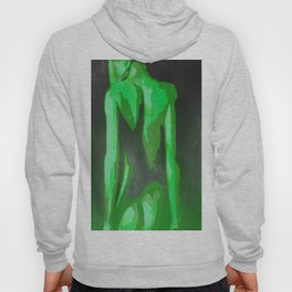Beautiful Young Woman Wearing Plaits and Panties (Green) Hoody