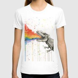 T-Rex Rainbow Puke T-shirt