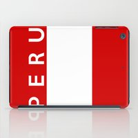 peru iPad Cases featuring flag of Peru by tony tudor