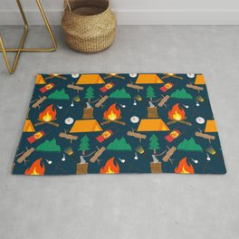 Let's Explore The Great Outdoors - Dark Blue Rug