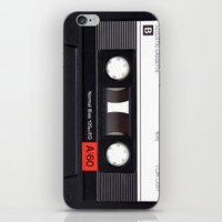 cassette iPhone & iPod Skins featuring Cassette by Life Is Real