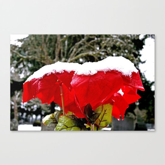 Graveyard snow Canvas Print
