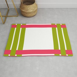 The intertwining pink and green ribbons Rug