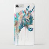 donkey iPhone & iPod Cases featuring Donkey by Slaveika Aladjova