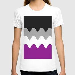 Wavy Asexual Flag T-shirt
