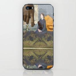 Black Cat (reflection) iPhone Skin