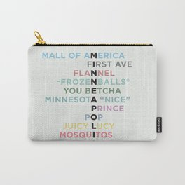 The Words of Minneapolis Carry-All Pouch