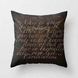 Civilisation: Ashes To Ashes Throw Pillow