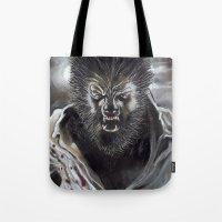 werewolf Tote Bags featuring Werewolf by Jeff B. Harris