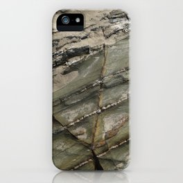 Sea Weathered Rock Texture with Sand iPhone Case