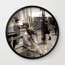 Art Philanthropist and Critic Wall Clock