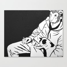 Sheep Mask and Cat Canvas Print