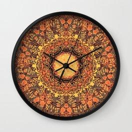 Marigold Mandala Wall Clock