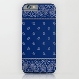 Classic Navy Blue with Gay Bandana iPhone Case
