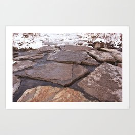 Scarborough Bluffs in Winter on December 27th, 2020. XIX Art Print