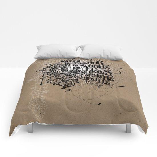 """""""Portland Parliament on Parchment"""" Comforters"""
