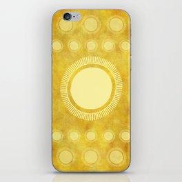 """""""Gold & Yellow Ethnic Sun Mandala"""" iPhone Skin"""