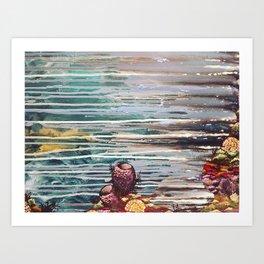 Diving Deep Art Print