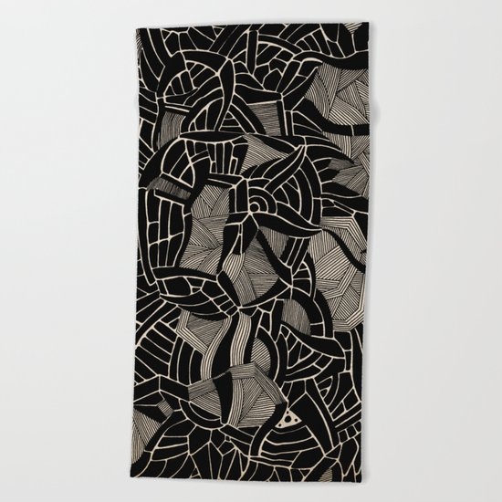 - cosmophobic cow - Beach Towel