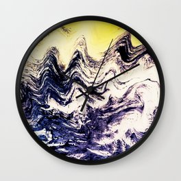 Strength (Waves) Wall Clock