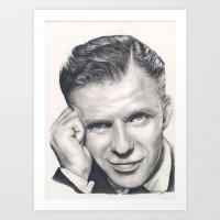 frank sinatra Art Prints featuring Frank Sinatra by Heather Andrewski