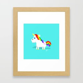 Sassy Unicorn Framed Art Print