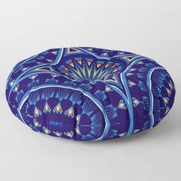Blue Fire Keepers Floor Pillow