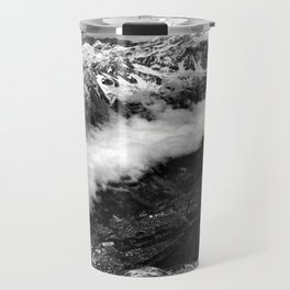 View from Mont Blanc of Chamonix, France. Travel Mug