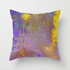 Blue & Yellow Throw Pillow