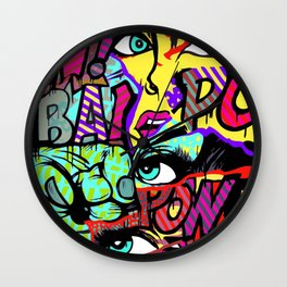 URBAN POP ART MASH-UP SERIES V.3 Wall Clock