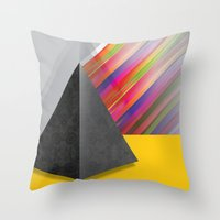 pyramid Throw Pillows featuring Pyramid by ohzemesmo
