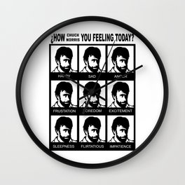 Chuck Emotions Wall Clock